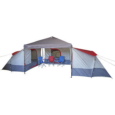 Outdoor Family Camping Tent 4 Person Large Canopy Equipment Cabin Hiking Gear