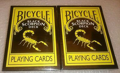 2x Sealed Bicycle SCORPION - Decks Of Playing Cards - new
