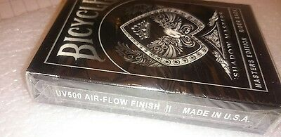 Bicycle UV500 SHADOW MASTERS Deck Of Playing Cards - new & sealed Ellusionist