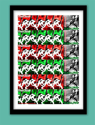 THE CLASH POSTER . LONDON CALLING  PROMO  LARGE A2 ( 60 X40 cm ) Print