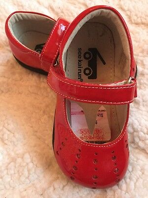see kai run Girls Dress Casual Red Shoes Size 7