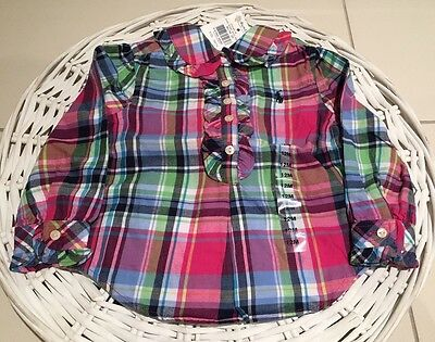 Genuine Baby Girls Ralph Lauren Polo Shirt Size 12 M 1 New With Tags RRP $70
