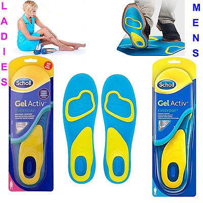 SCHOLL Gel Activ Everyday Shock Absorption Insoles Men (UK 8-13), Women (UK 5-8)