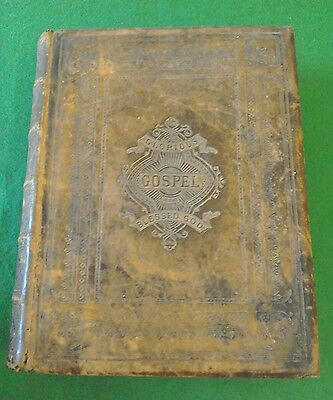 Antique Vintage Rev John Brown Self-Interpreting Family Holly Bible Illustrated