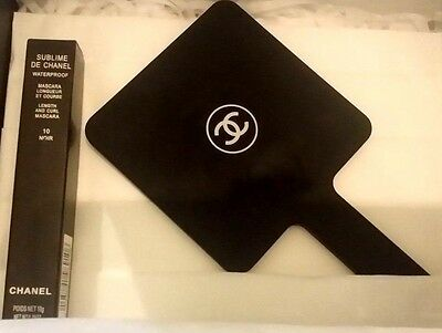 Chanel Make Up Hand Mirror Mini Brush Set, Sharpener Vip Gift Card & Box