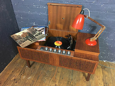 Vintage HMV Record Player, Stereogram Model 2400 Stereomaster, Garrard 3000 Deck