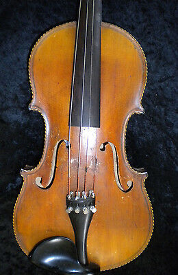 Antique German Violin Fried August Glass
