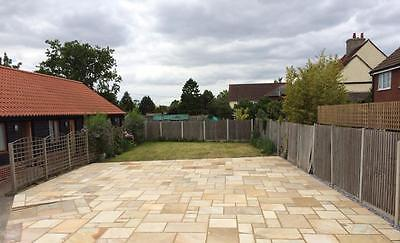 Mint Fossil Calibrated Indian Sandstone Paving 600 Mixed Pack 19.50m2 (PREMIUM)