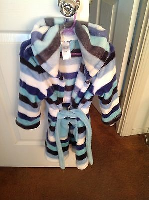 Unisex Dressing Gown Size 3 Mix Kids Brand Striped Design