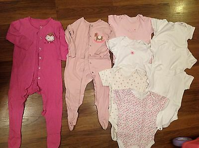 7 baby vest & 2 sleepsuits, 18-24 months, very good condition