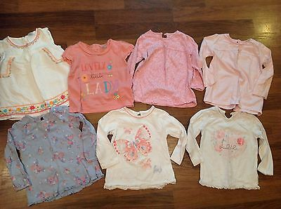 7 baby girl tops, 12-18 months, all good condition
