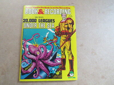 Vintage Book and Recording - Jules Verne's 2000 Leagues Under the Sea