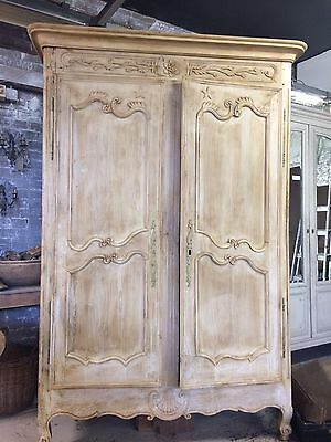 Stunning Antique Oak Carved Normandy Armoire