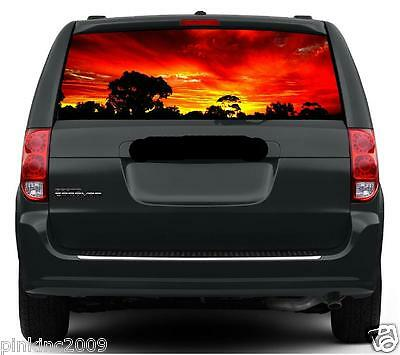 Australian Sunset Car or Caravan Rear Window Vehicle Graphic Sticker / Decal