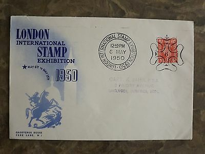 RARE GB 1950 London International Stamp Exhibition : commemorative cover