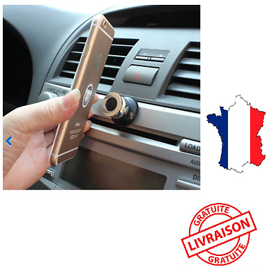 Support voiture pour smartphone rotatif 360°universel magnetique telephone gps