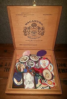 Lot of 27 1930s Catholic felt pendants and medals Brooklyn German Precious Blood