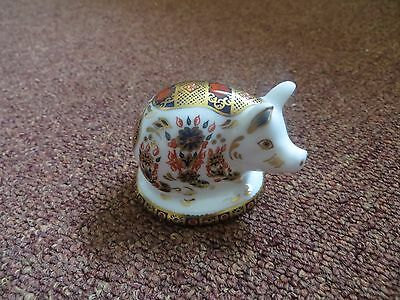 Royal Crown Derby Small Pig Paperweight First Quality