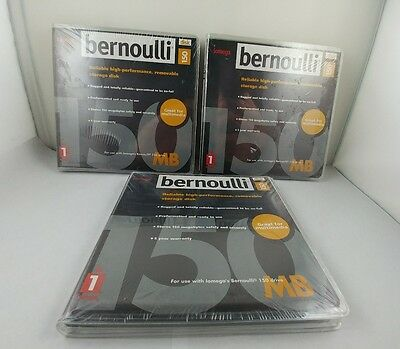 iomega-bernoulli disks 150mb new-3 disks lot, for iomega-bernoulli 150mb drive.