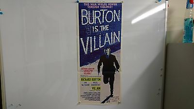 Villain Original Daybill Movie Film Poster Richard Burton 1971