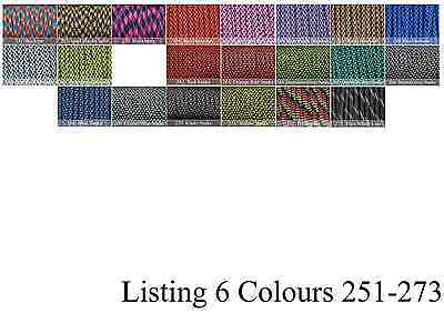 Paracord 550 x 100 Foot CHOOSE OVER 300 COLOURS! GENUINE 7 STRAND PARACORD! 6