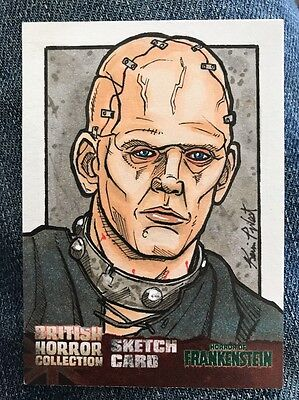 Rare BRITISH HORROR COLLECTION One of a kind mint Sketch Trading Card Kevin West