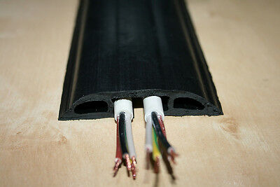 Floor Cable Cover Protector | Rubber Heavy Duty Trunking | Wire Safety Cable