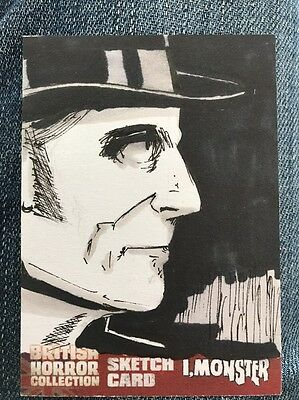 BRITISH HORROR COLLECTION 1 of a kind mint Sketch Trading Card Jason Westlake