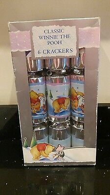 Classic Disney Winnie the Pooh Christmas Crackers Pack of 6 ( very rare)