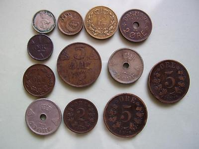 Denmark, Norway & Sweden coins 19th & 20th C collectable grades (12)
