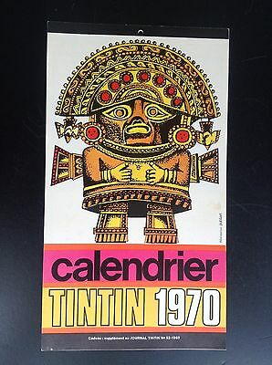 RARE calendrier supplement  journal Tintin 1970 COMPLET TTBE
