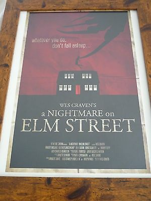 Horror block exclusive 16by12 premium print framed A nightmare on elm street