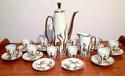 Antique Porcelain coffee set. ! Antiguo Juego de cafe.porcelana.