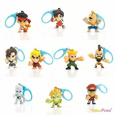 Street Fighter - Single 3D Hanger Key Ring Blind Bag - Brand New
