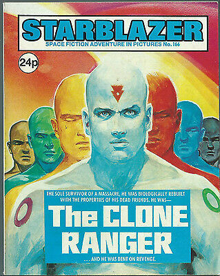 The Clone Ranger,no.166,starblazer Space Fiction Adventure In Pictures,comic