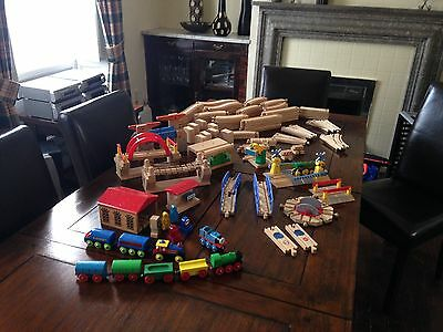 Wooden train track bundle Brio, Ikea, trains, track, bridges, tunnels.