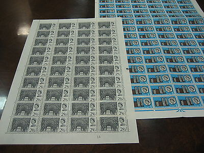 1966 Abbey 2 Complete  Sheets Sets Mnh  Stamps Commemorative Sg 687-688