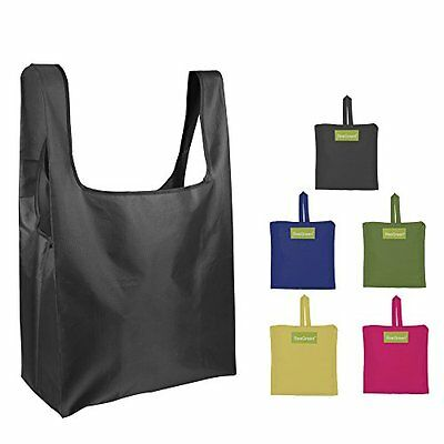 Grocery Bags Tote Reusable Shopping Pouch Ripstop Polyester Washable Set of 5