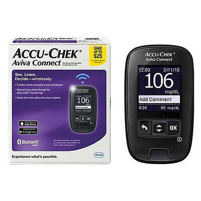 Accu-Check Aviva Connect Blood Glucose Monitoring System Bluetooth Smart