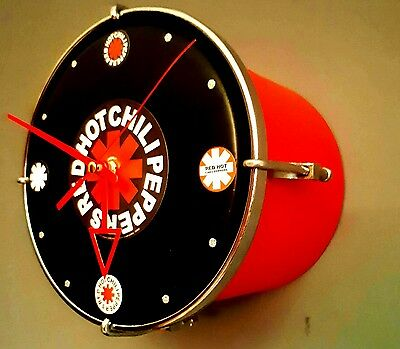 RED HOT CHILLI PEPPERS Upcycled/Bespoke drum clock