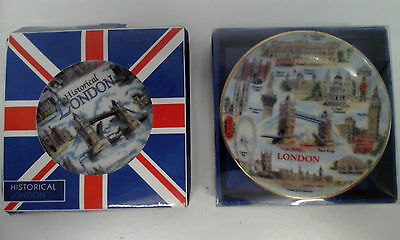 Mini Porcelain Decorative - Both with London Pictures - New in Box