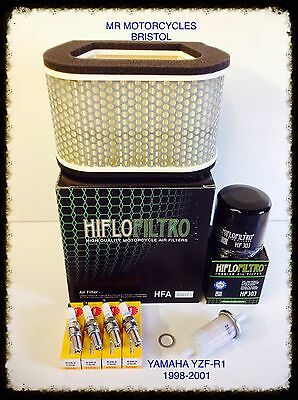 YAMAHA YZF R1 98-01 Service Kit, Oil Filter, Air Filter, Plugs, SER2760