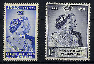 F. I. D. - SG G19-20 - 1948 - Royal Silver Wedding Set of 2 - Unmounted Mint/MNH
