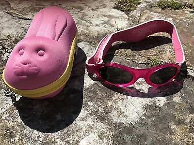 Pink Baby Banz babies' sunglasses + case