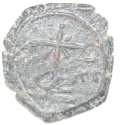 Byzantine Ae Copper Follis - Medieval Coin  - Authentic Coin -  H255