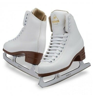 Jackson Excel JS1291 junior Figure Skates White WITH BLADES -box 3 -Free Postage