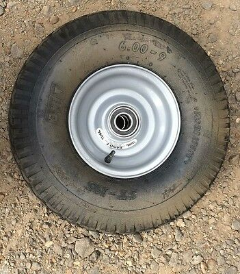 10 x 6.00 - 9 high speed trailer / park home wheels and tyres