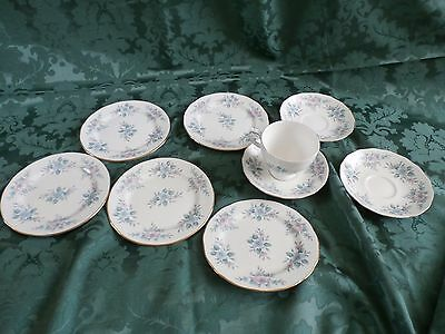 Colclough Part tea service 5 tea plate, 3 saucers and a cup