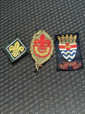 3 Boy Scouts Cloth Area / County Badges / Patches. Scouting. Scout.vintage Rare
