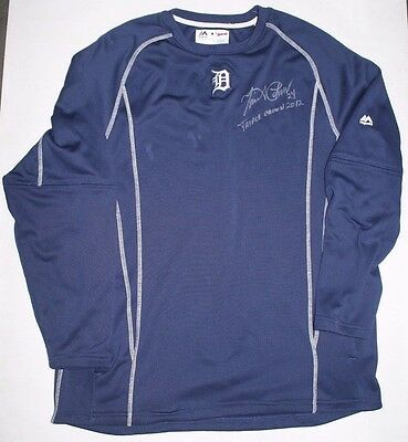 Miguel Cabrera Game used Signed Jersey Detroit Triple Crown Al MVP sweater 2017